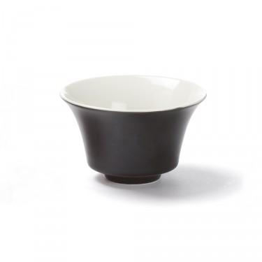 """""""Color"""", bol à thé noir 12,5 cl porcelaine"""