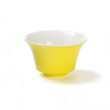 """""""Color"""", bol à thé jaune 12,5 cl porcelaine"""