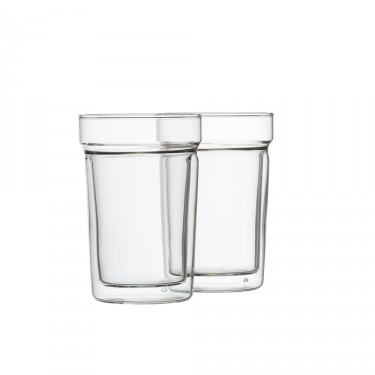 « Oasis », set of 2 double wall glasses