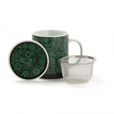 VICTORIA - mug porcelaine avec couvercle - VERT