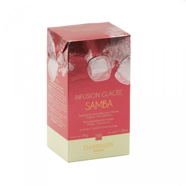 Samba Iced Fruit Infusion, box of 6 sachets for iced fruit infusion