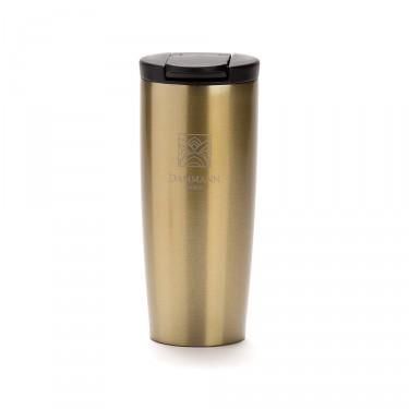 """NOMADE"", isothermal pearl gold travel mug"