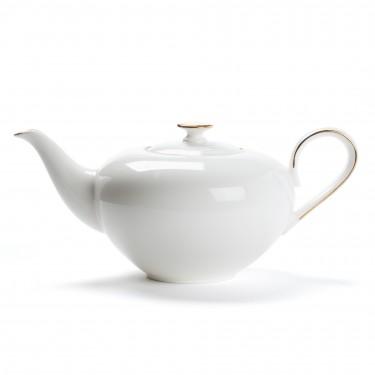 Théière porcelaine - CONCORDE - 1L - LISERÉ OR