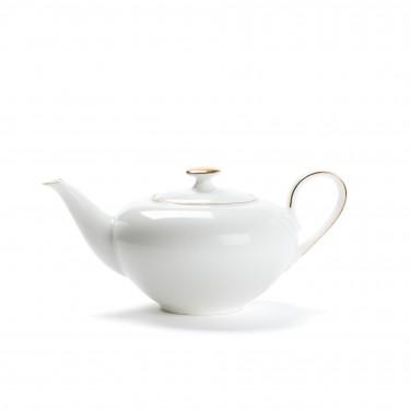 Théière porcelaine - CONCORDE - 0,4L - LISERÉ OR