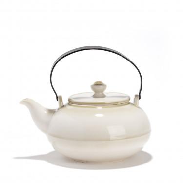Théière porcelaine - GONGJANG - 0,8L - patine végétale